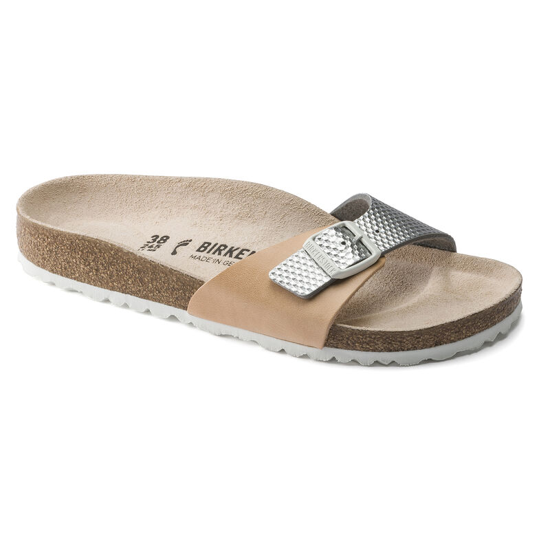 Madrid Leather Nude Silver