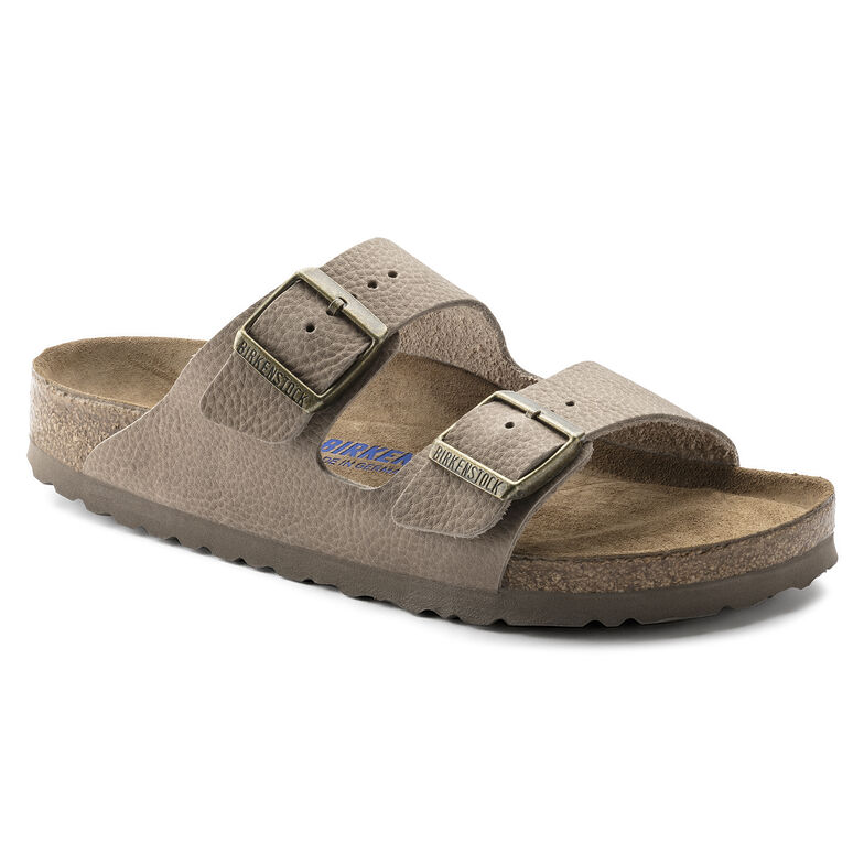 Arizona Nubuck Leather Soft Footbed Steer Taupe