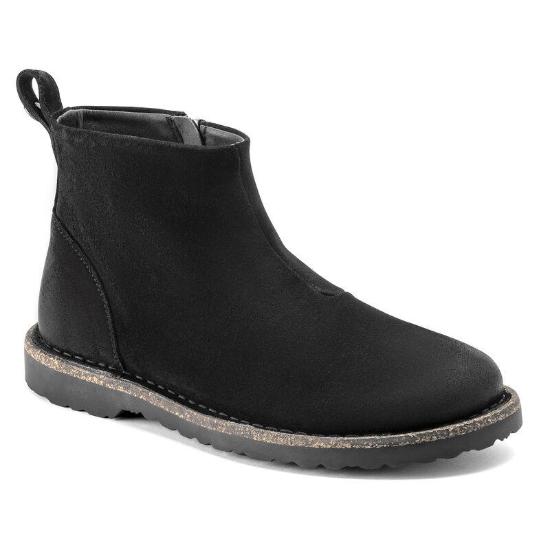 Melrose  Suede Leather Black