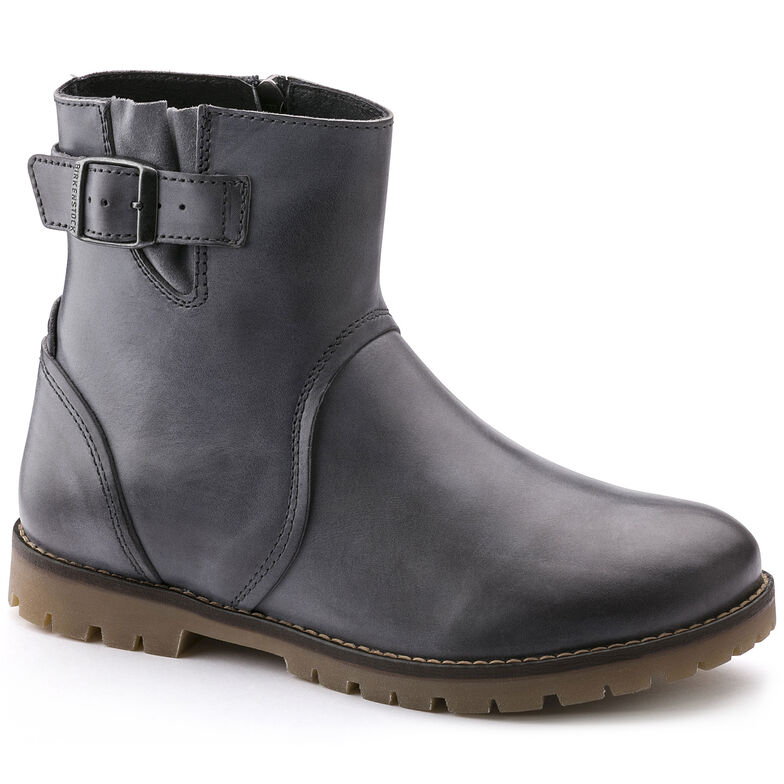 Stowe Natural Leather Grey