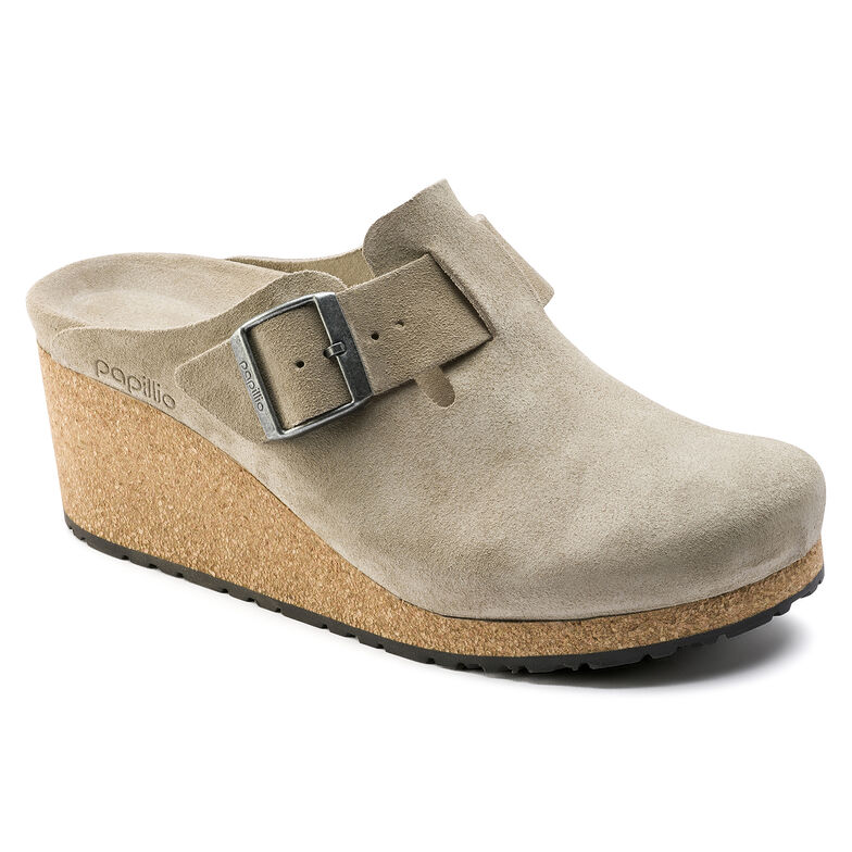 Fanny Suede Leather Taupe