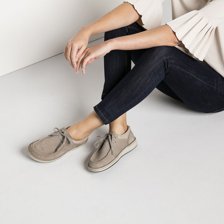 Pasadena Suede Leather Taupe