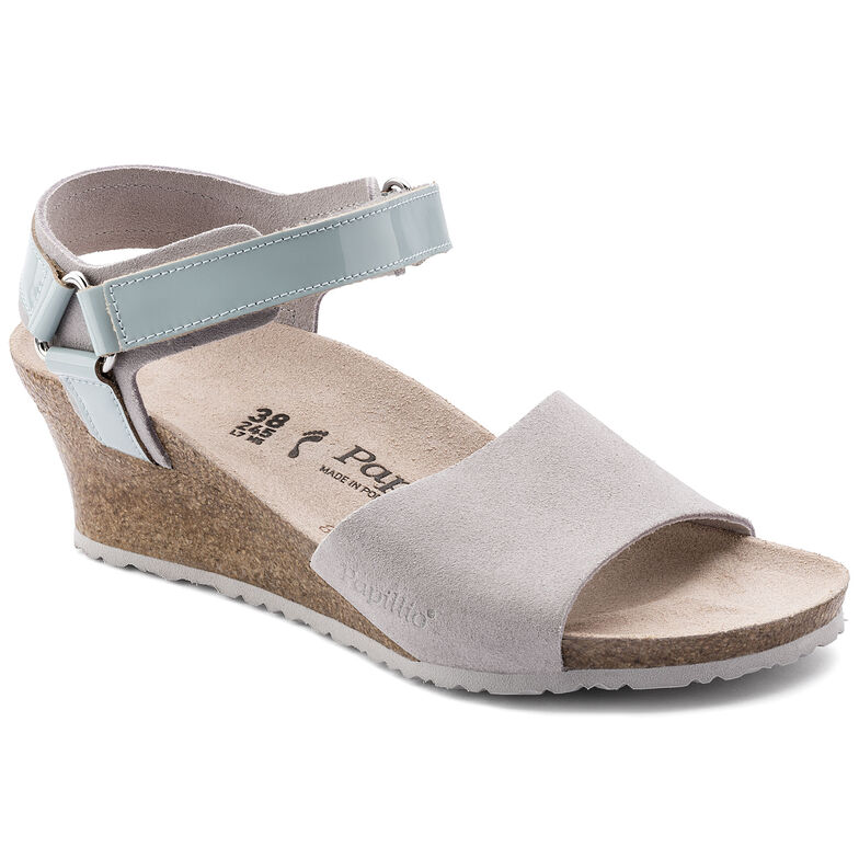 Eve Suede Leather/PVC Grey