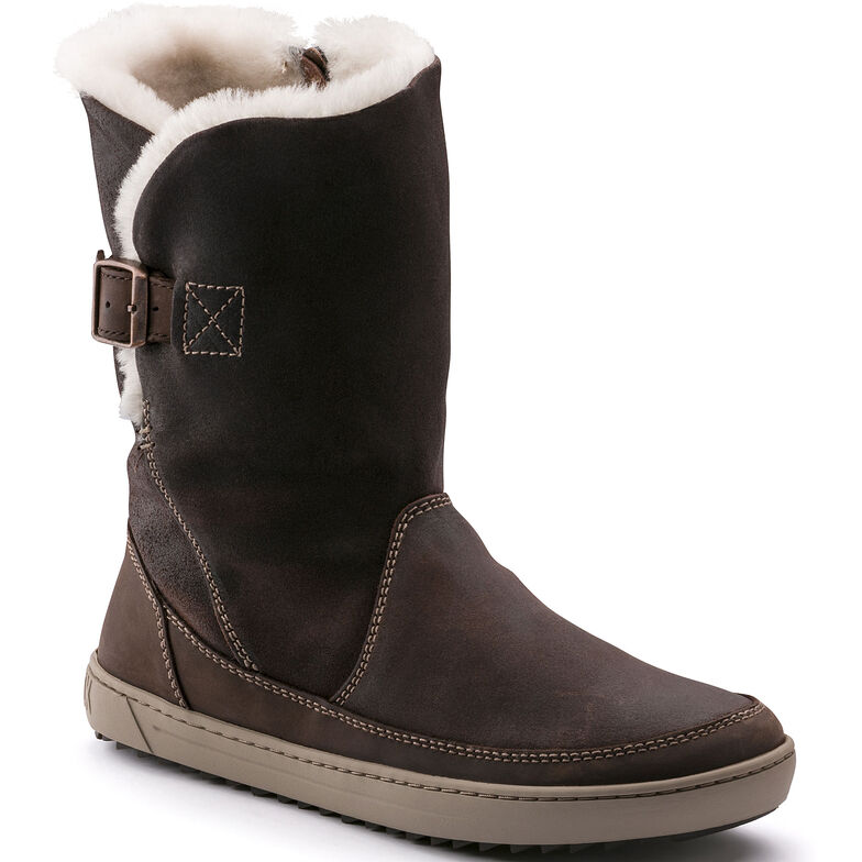 Woodbury Suede Leather Dark Brown