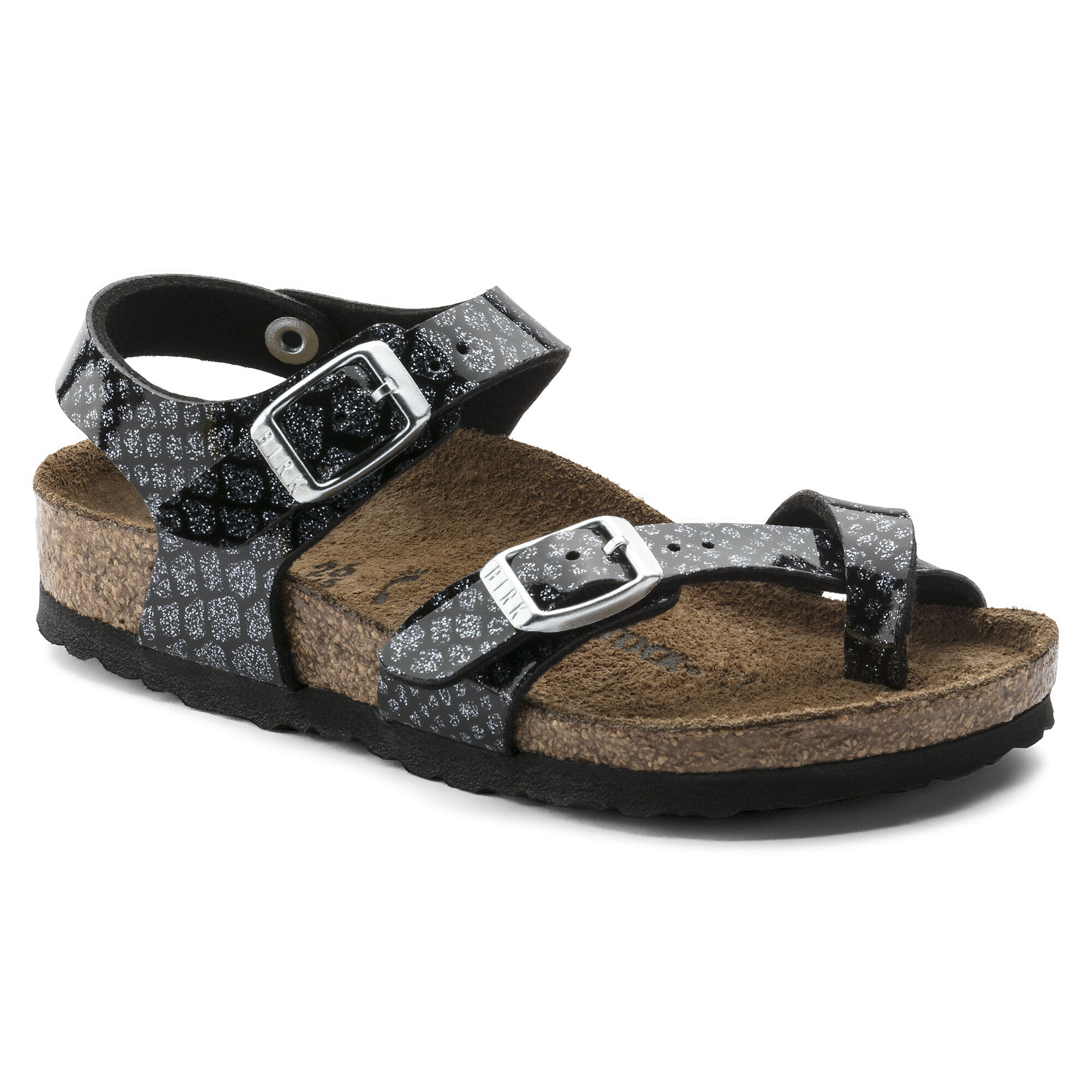 Birkenstock Women's Arizona Magic Snake Birko-Flor Narrow Fit Sandal Black-Black-4.5 Size 4.5 w7KgB