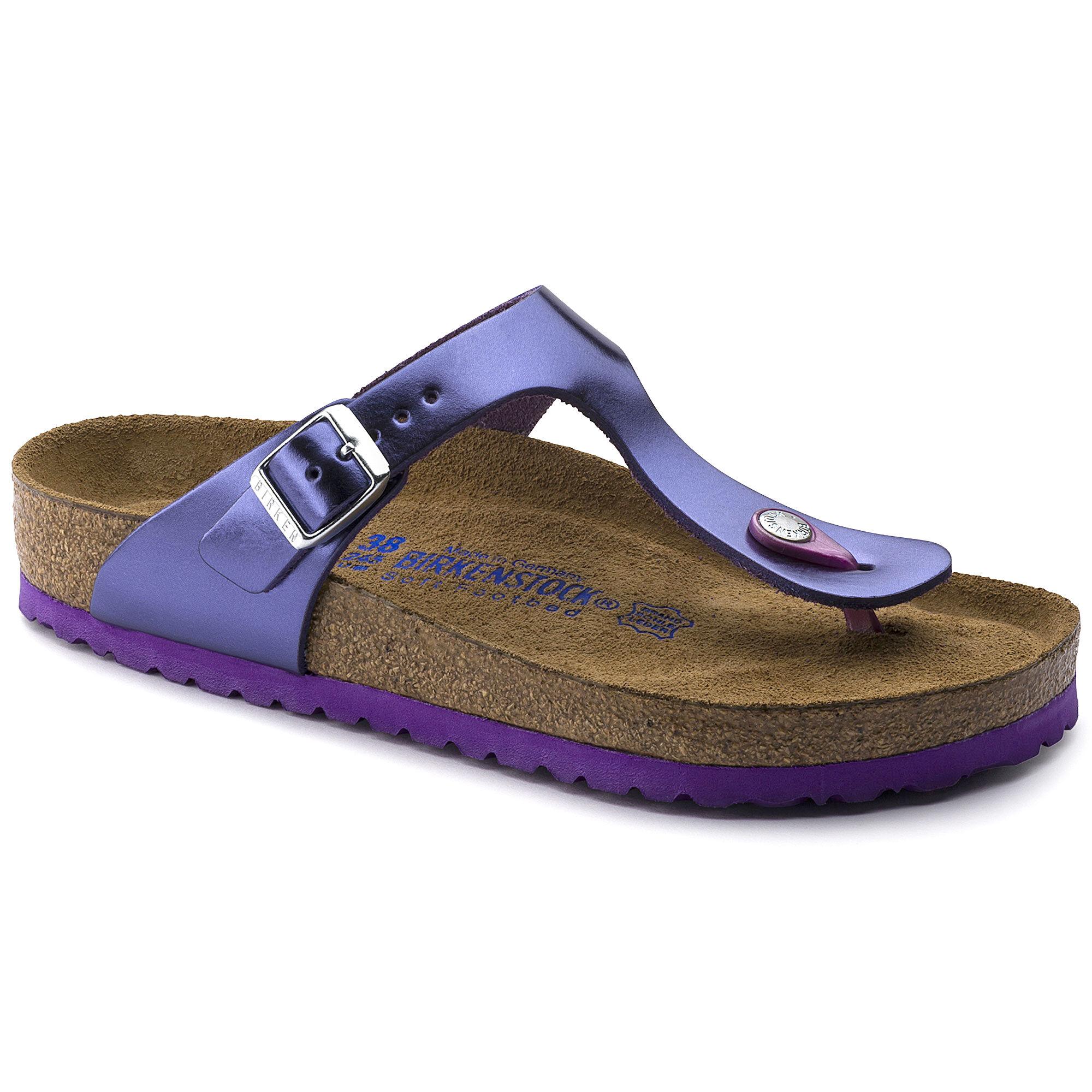 Gizeh Natural Leather Soft Footbed Metallic Violet