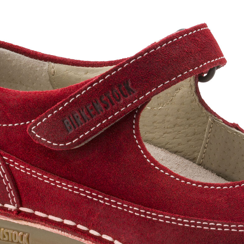 June Suede Leather Red