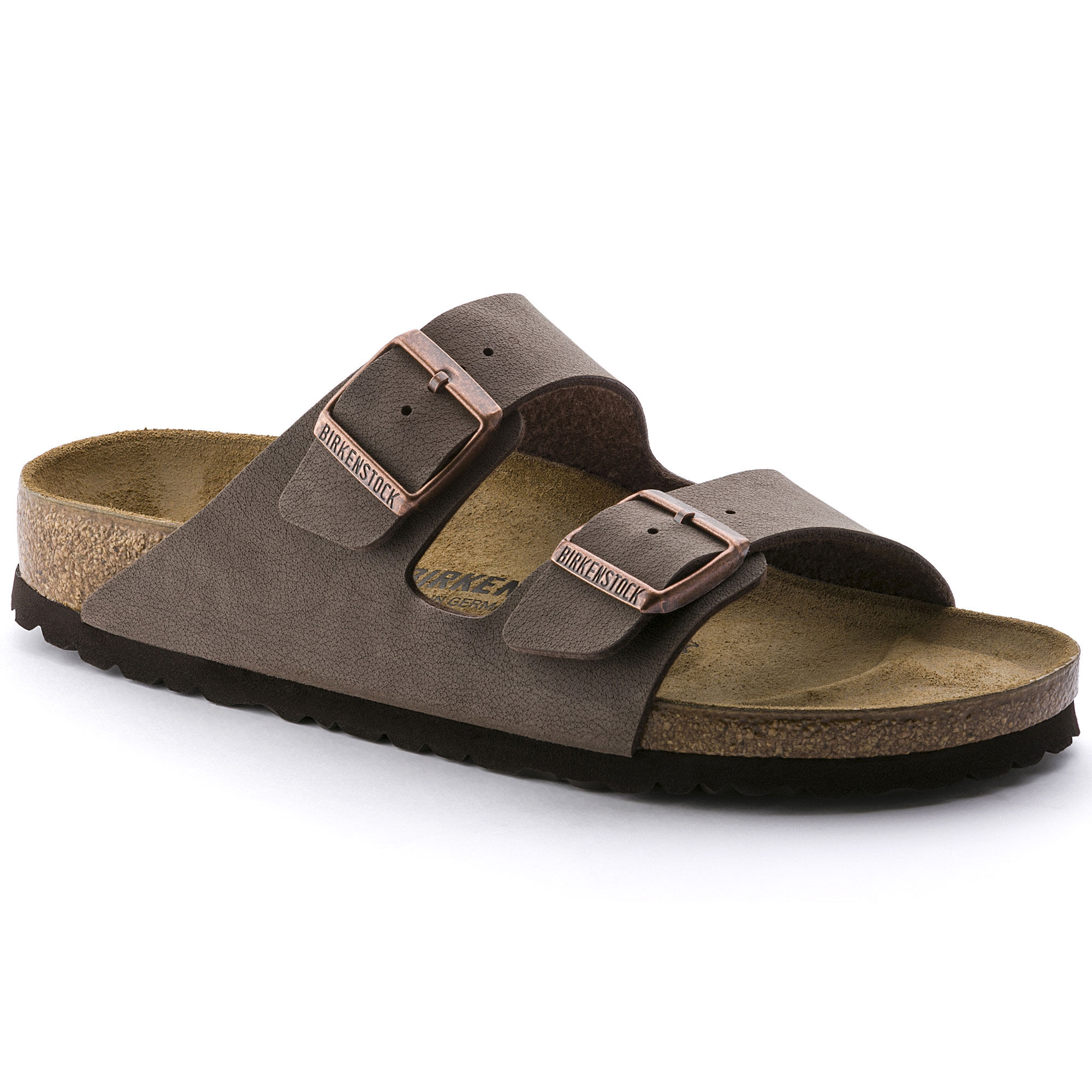 Newest Birkenstock Arizona Microfibre M Grey Mens Slippers Outlet UK0310