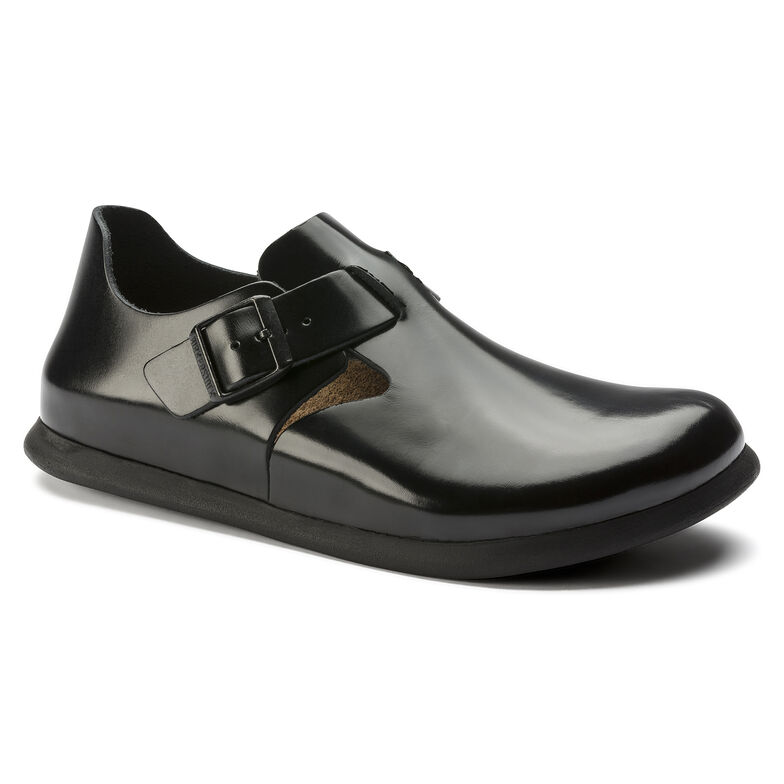 Embossed Leather Patent Shiny Black