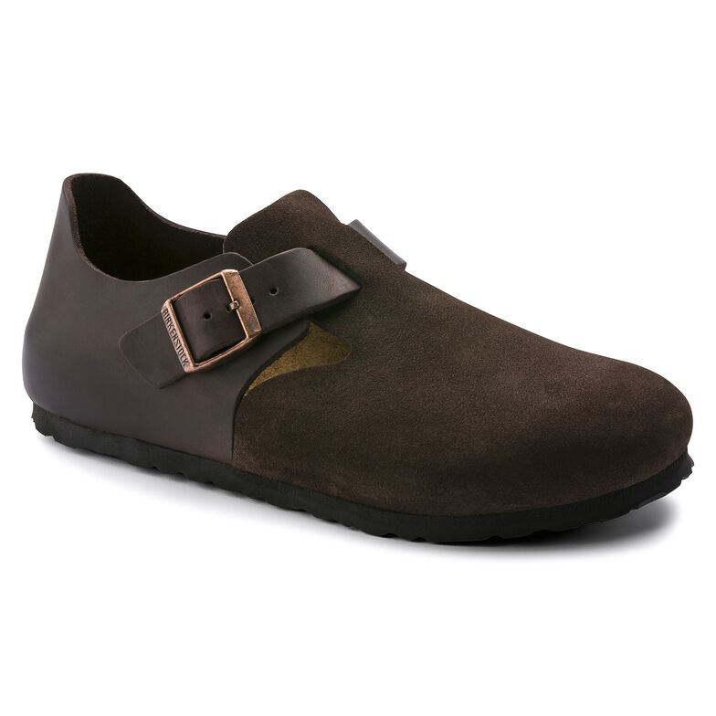 London Oiled Leather/Suede Leather Ebony