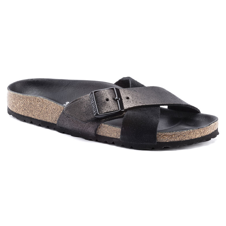 Siena Suede Leather Allover Black