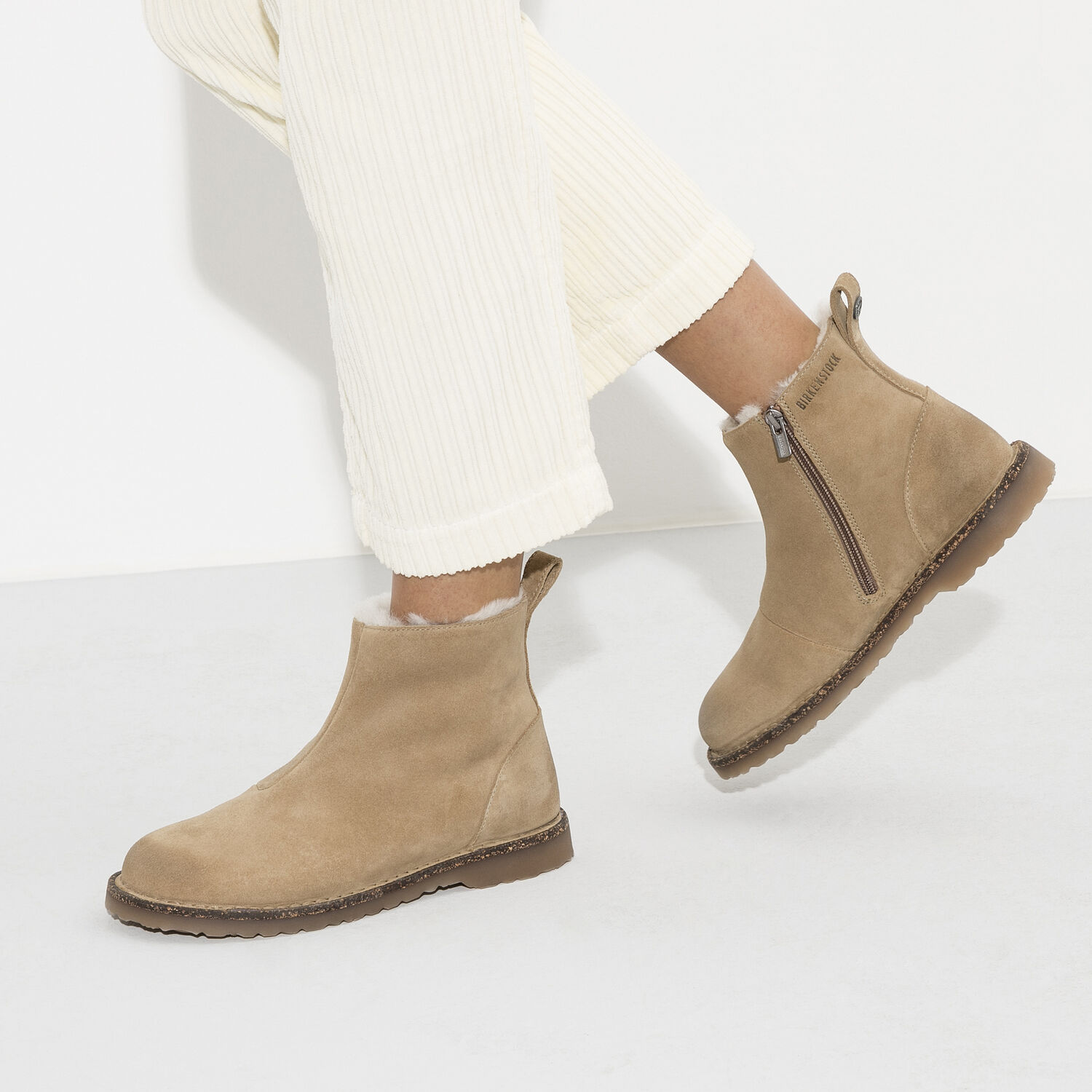 Melrose Shearling  Suede Leather