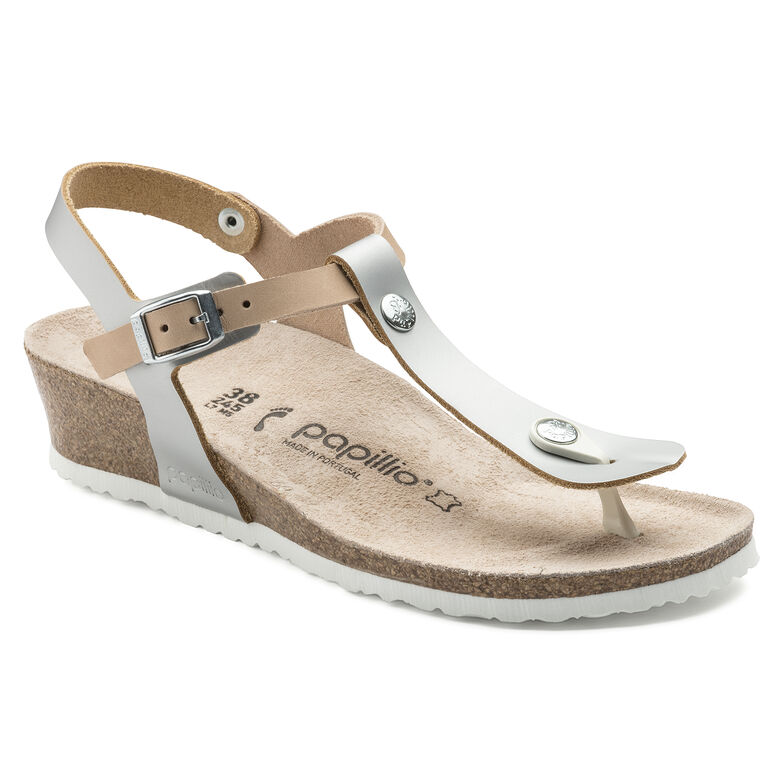 Ashley Natural Leather Frosted Metallic Silver