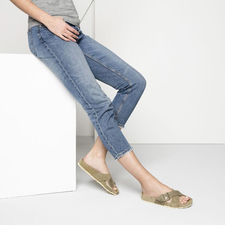 Siena Suede Leather Allover Khaki