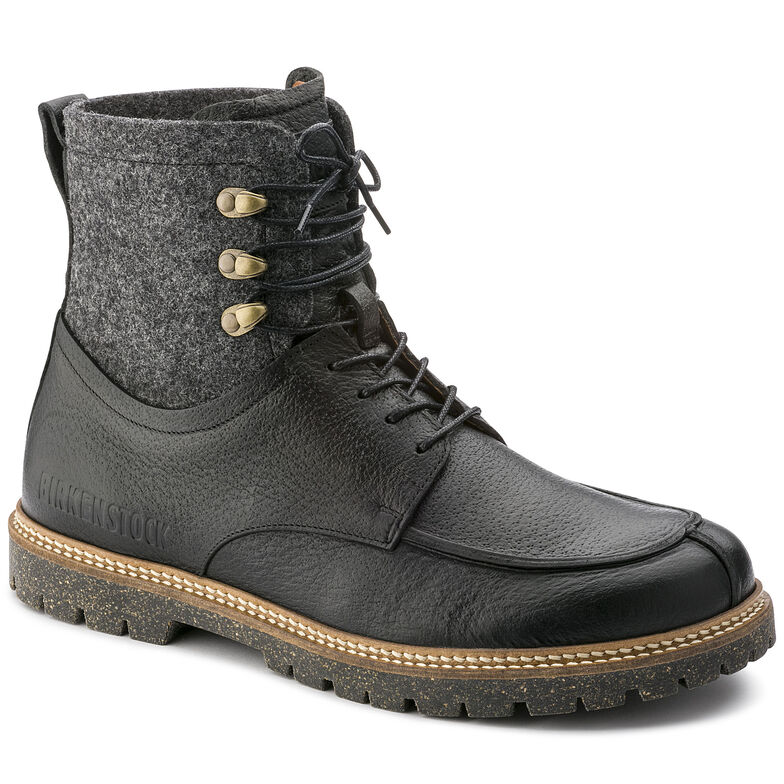 Timmins Embossed Natural Leather Black