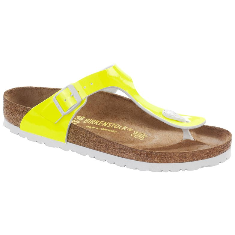 Gizeh Birko-Flor Patent Neon Yellow Patent