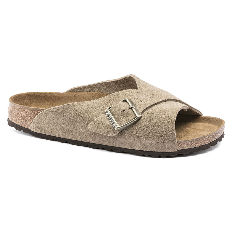Arosa Suede Leather Taupe