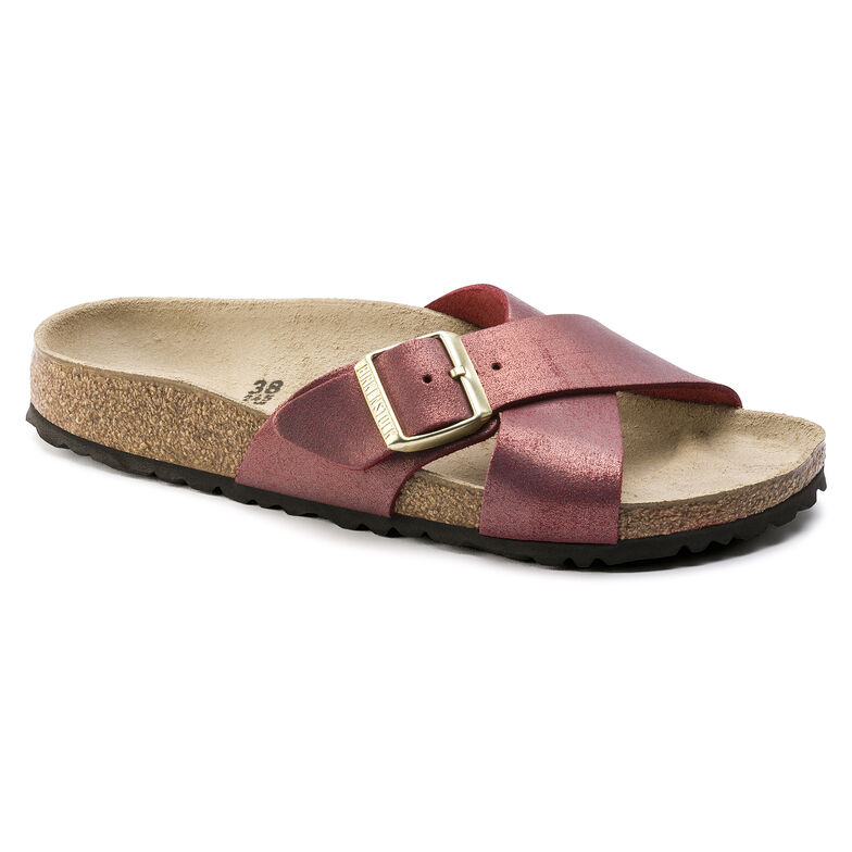 Siena Suede Leather Washed Metallic Port