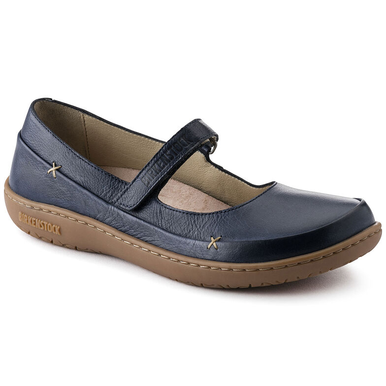 Iona Natural Leather Navy