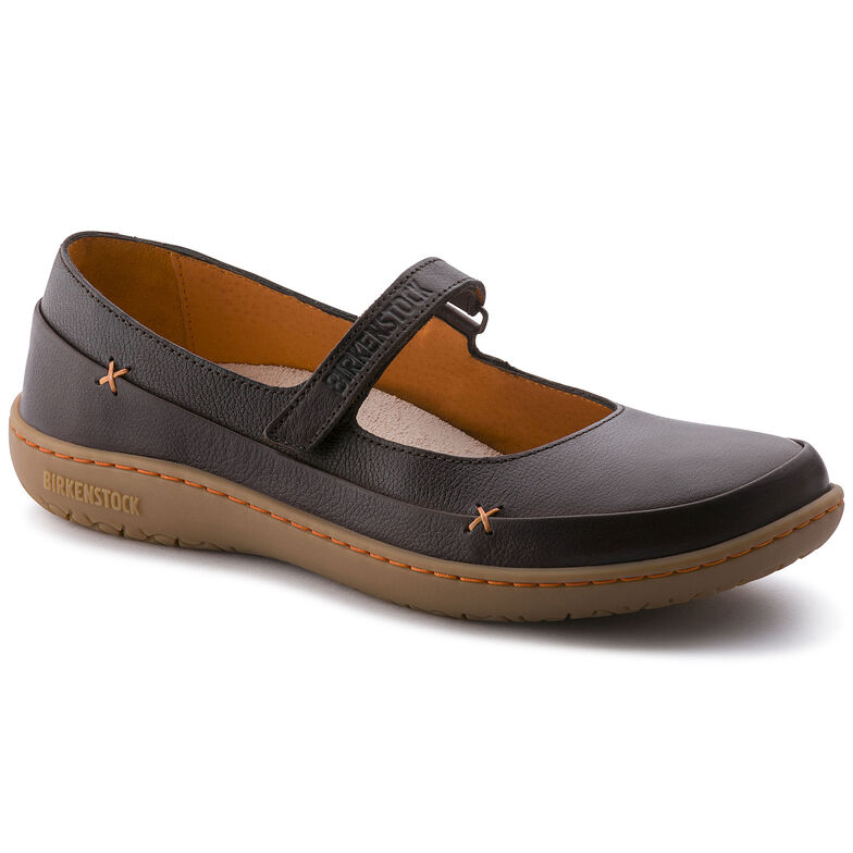 Iona Natural Leather Dark Brown