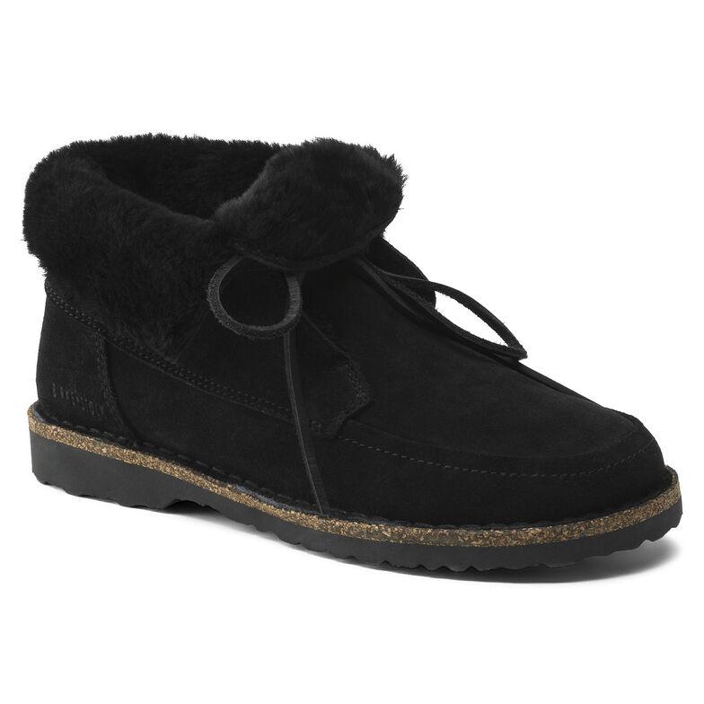 Bakki Suede Leather Black