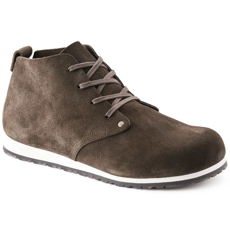 Dundee Suede Leather Mocha White