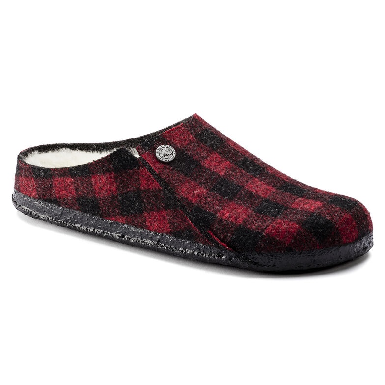Zermatt Wool Felt Plaid Red