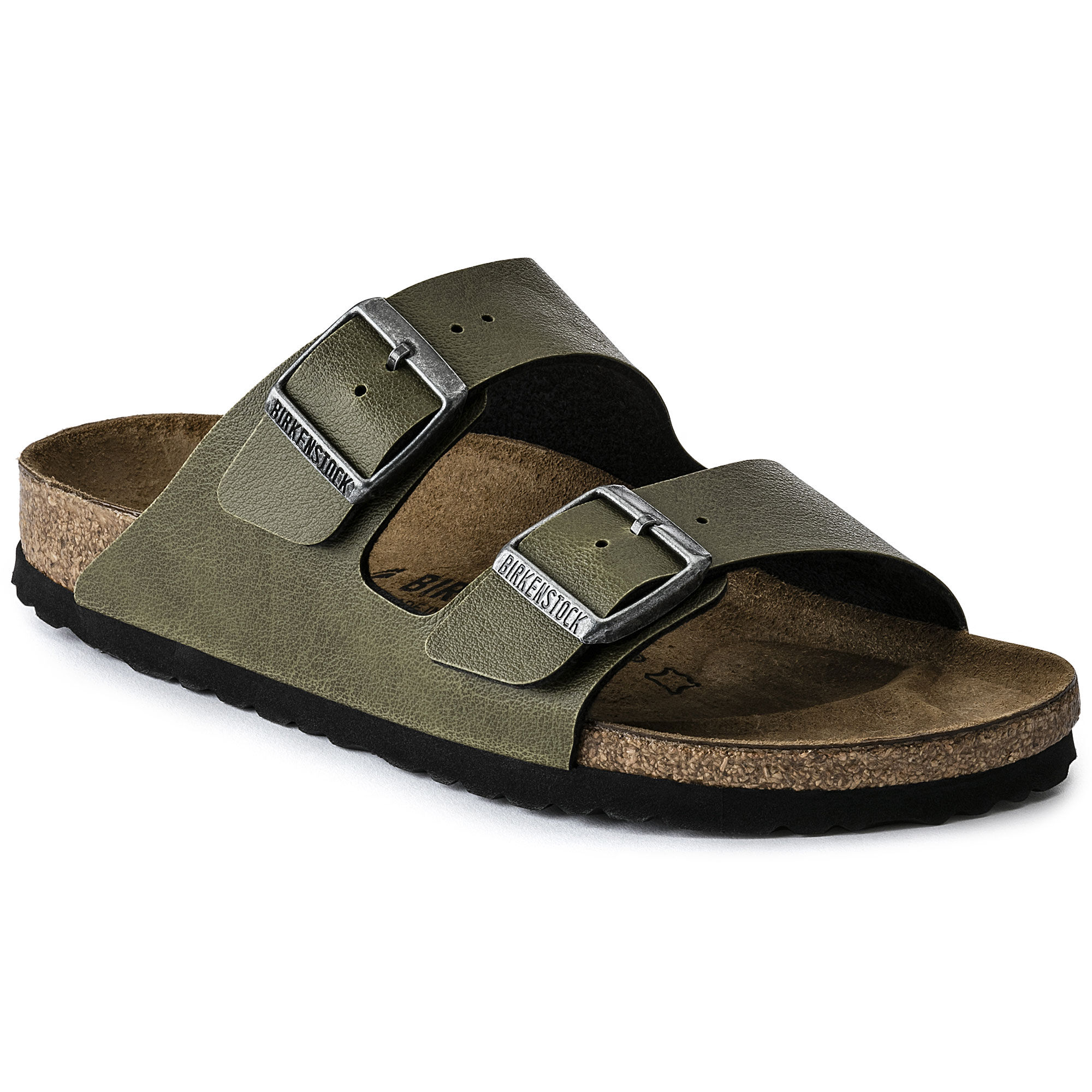 Unisex Arizona Olive Birko-Flor Pull Up Sandal