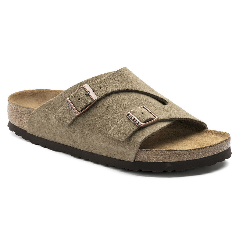 Zürich Suede Leather Soft Footbed Taupe