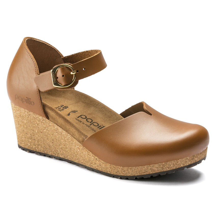 Mary Ring-Buckle Natural Leather Ginger Brown