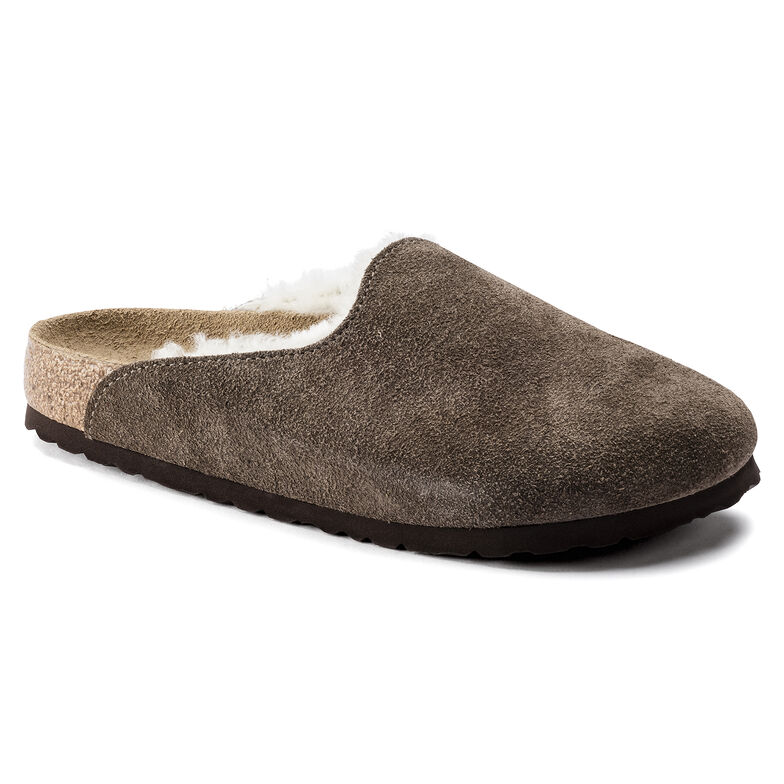 Amsterdam Shearling  Suede Leather Concrete Gray