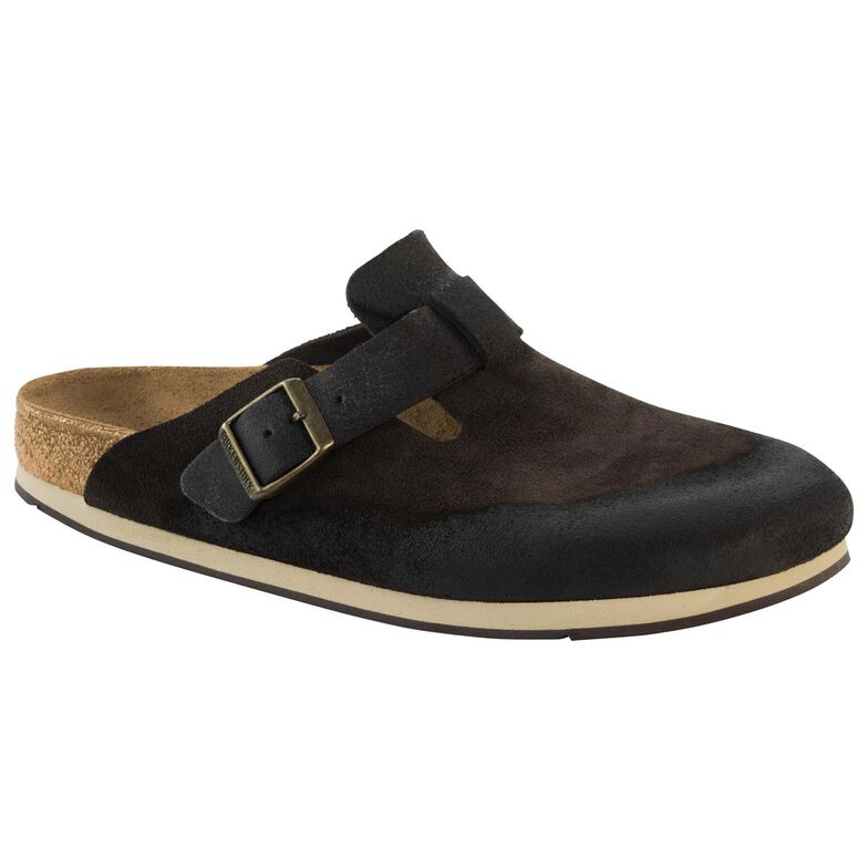Boston Suede Leather Brown Finish