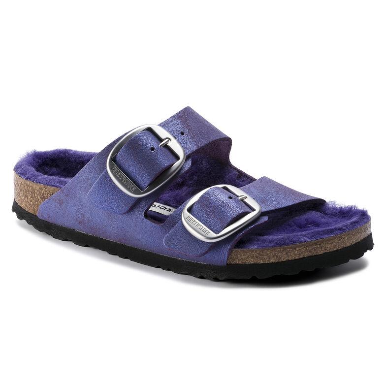 Arizona Suede Leather Washed Metallic Violet