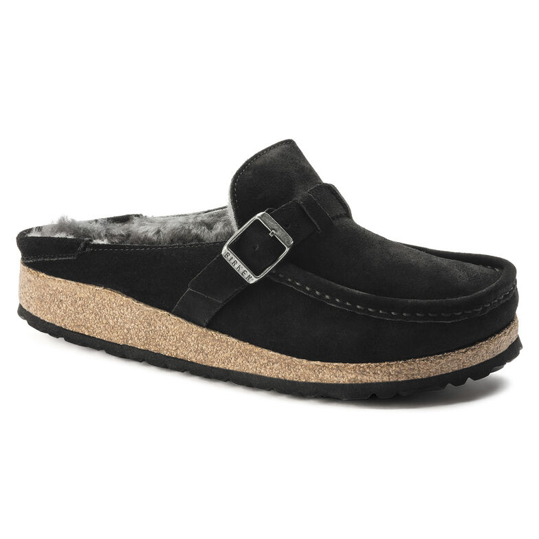 Buckley Suede Leather Shearling Black