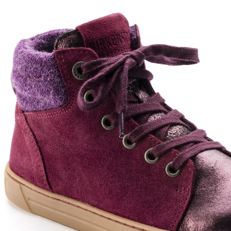 Bartlett Suede Leather Plum