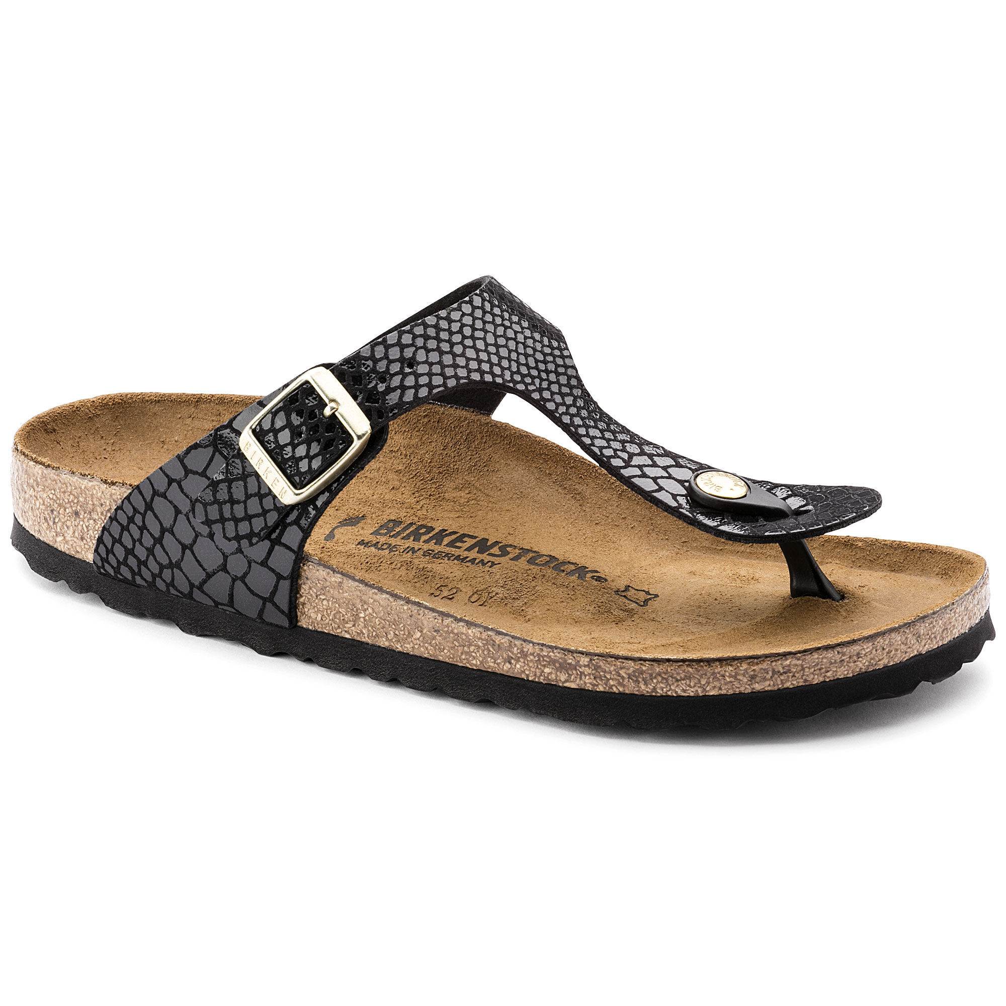 Newest Birkenstock Gizeh Flor W Black Womens Flip Flops Outlet UK1078