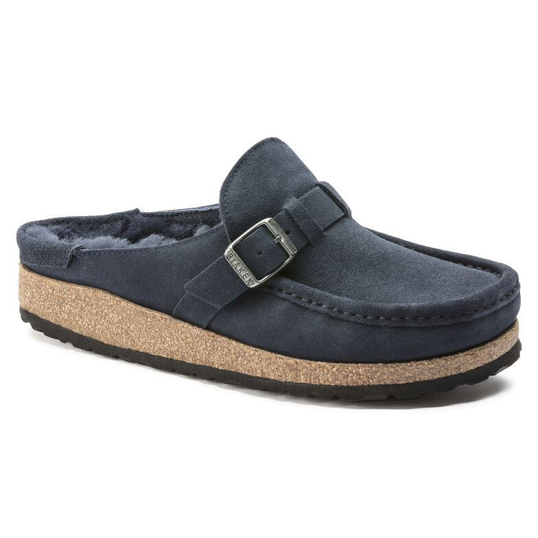 Buckley Suede Leather Shearling Navy