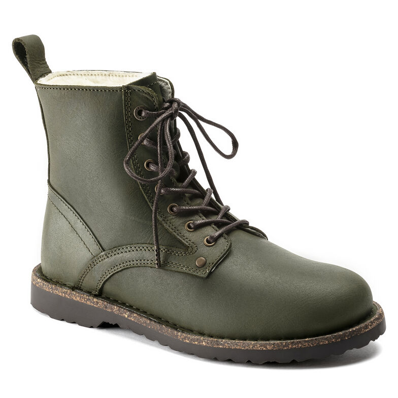 Bryson Shearling  Suede Leather Hunter Green