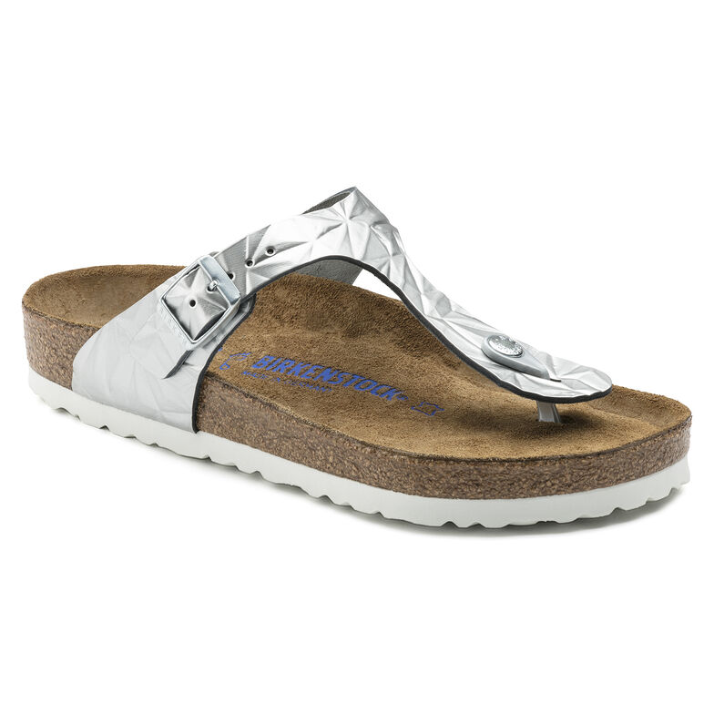 Gizeh Natural Leather Soft Footbed Spectral Silver