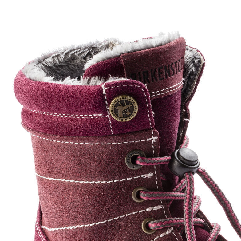 Currow Suede Leather Plum