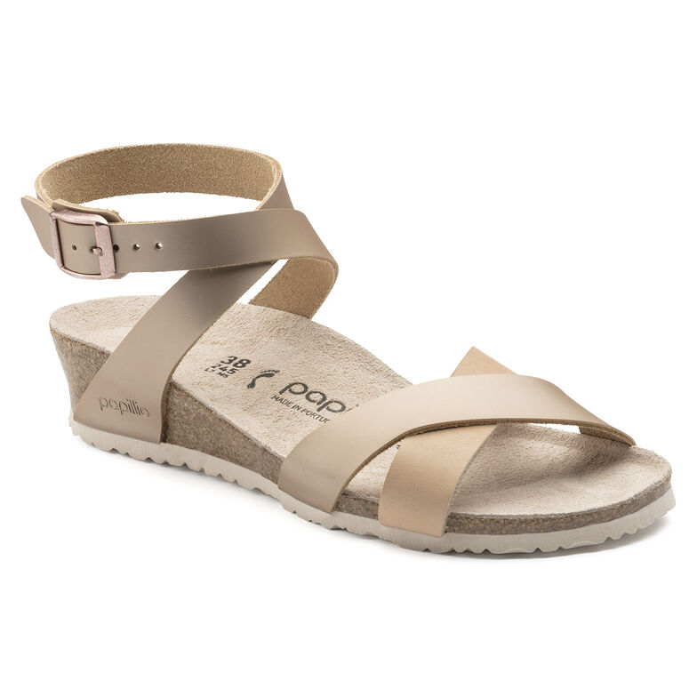 Lola Natural Leather Frosted Metallic Rose