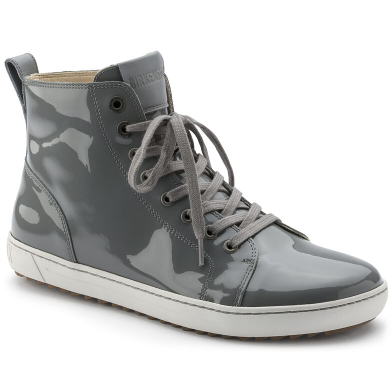 Bartlett Embossed Leather Patent Grey