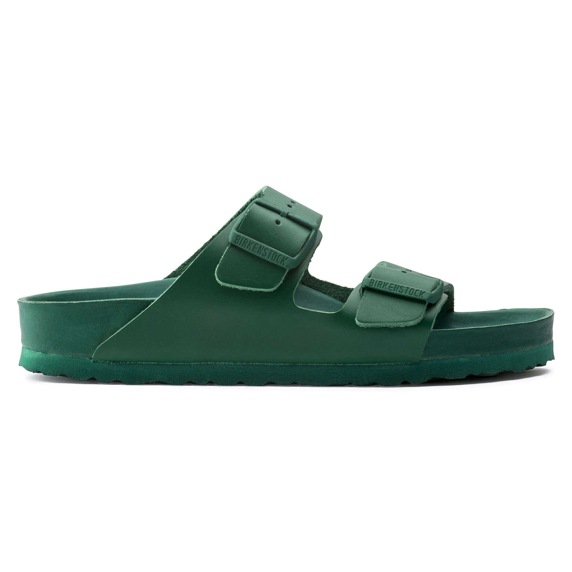 Arizona Natural Leather Green | shop online at BIRKENSTOCK