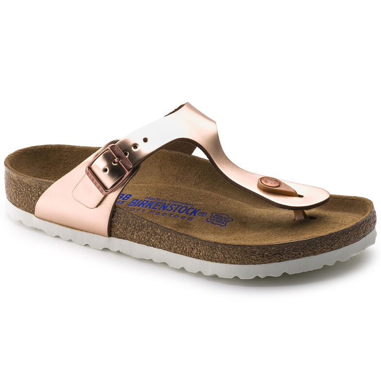 Gizeh Natural Leather Soft Footbed Metallic Copper