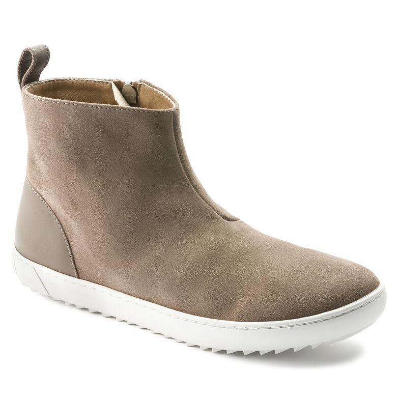 Myra Suede Leather Taupe