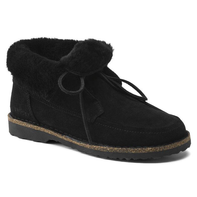 Bakki Suede Leather Black