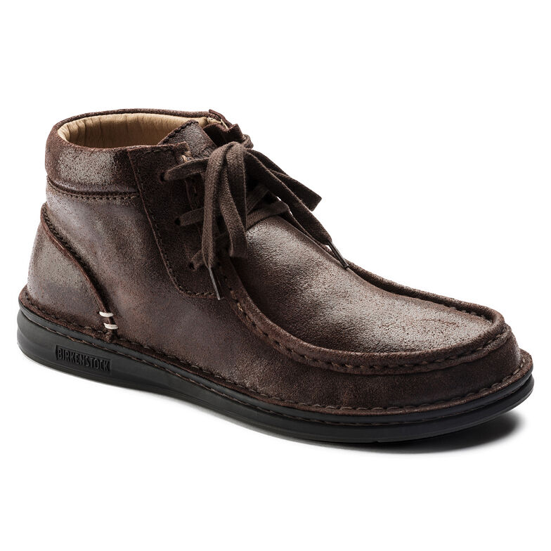 Pasadena Suede Leather Dark Brown