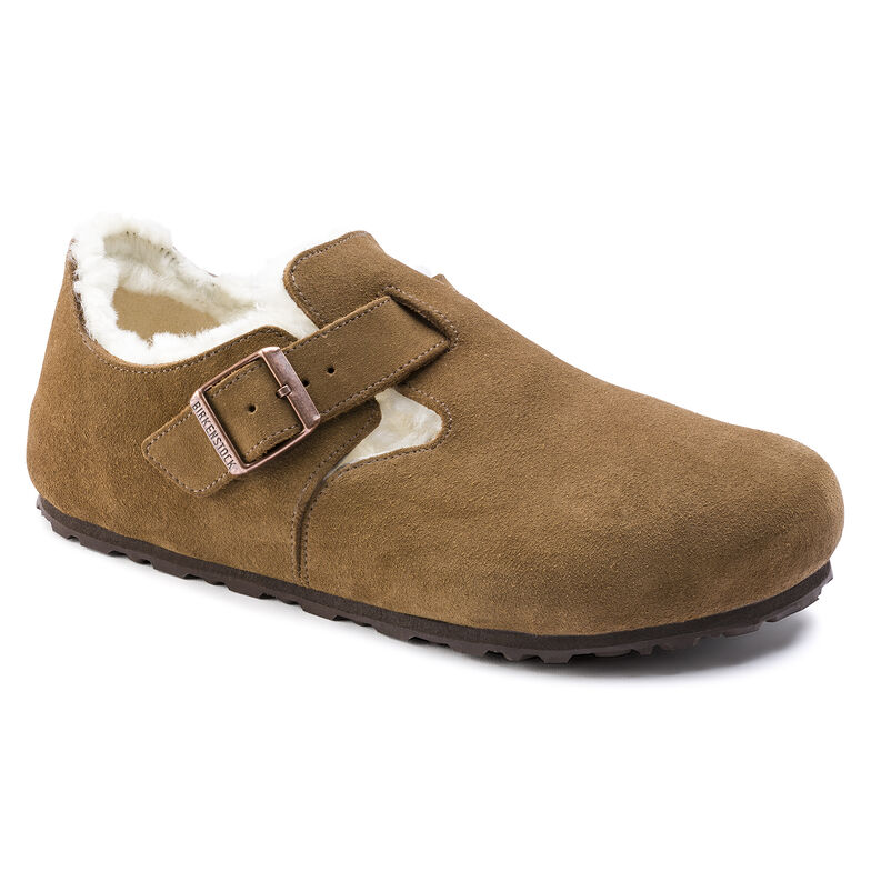 London Suede Leather Shearling Tea