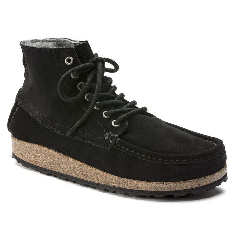 Marton Suede Leather Shearling Black
