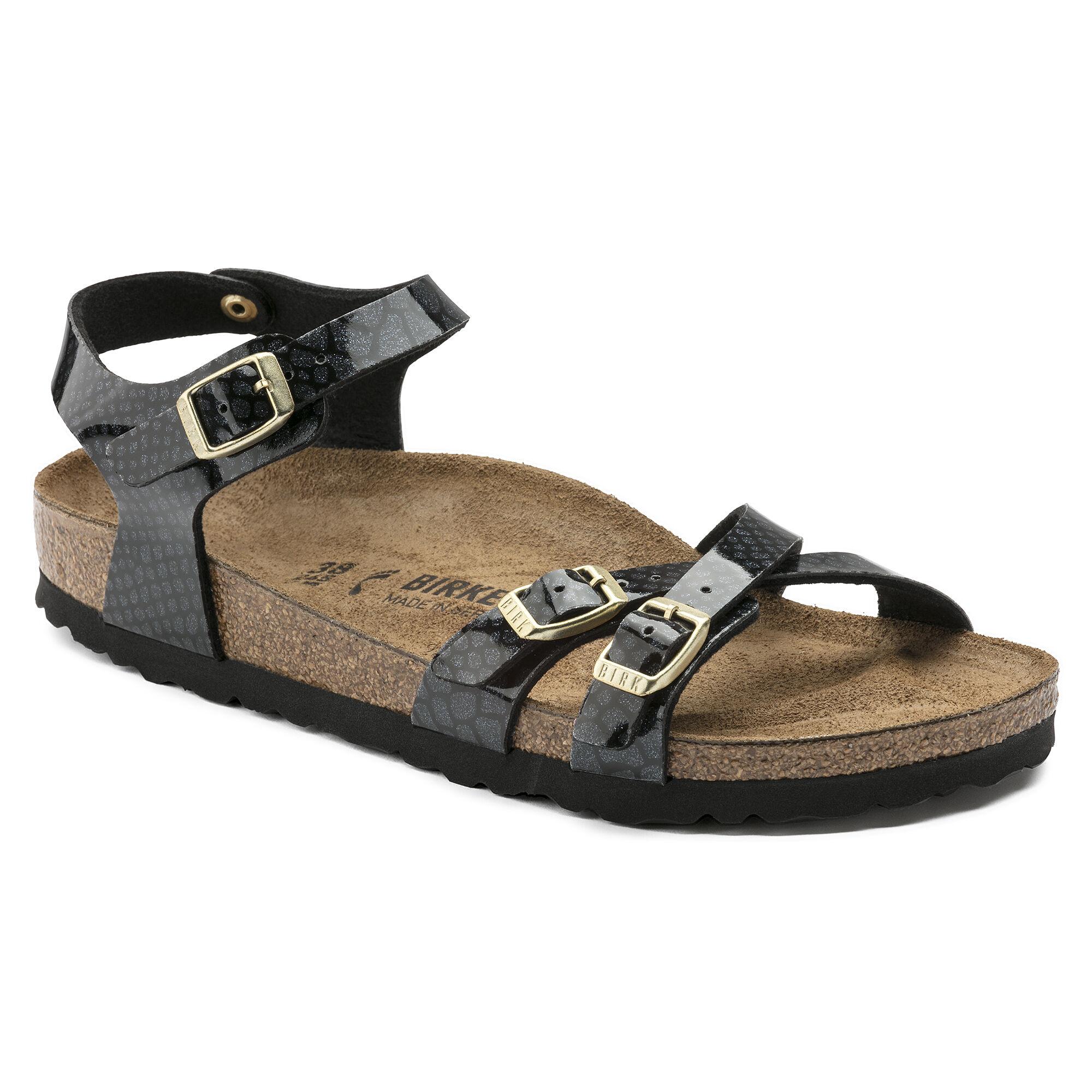 Black Birkenstock Papillio shoe KUMBA MAGIC SNAKE GIdYK9F